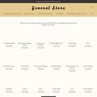 General Store - Groceries & Provisons since 2012 - London