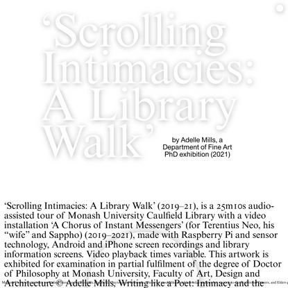 Scrolling Intimacies - Home