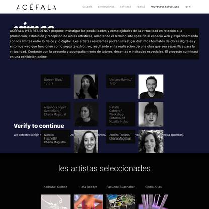 Acefala Web Residency 2021 | Acefala Galeria