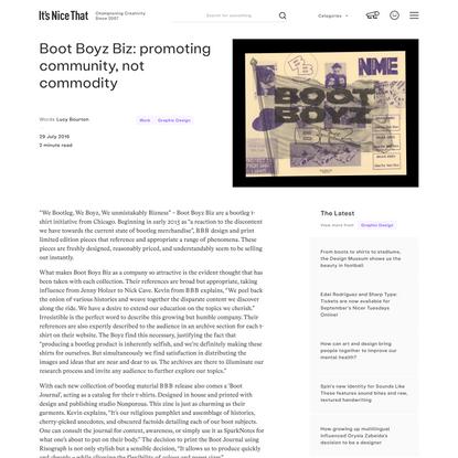 Boot Boyz Biz: promoting community, not commodity