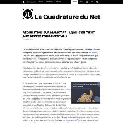 Réquisition sur Mamot.fr : LQDN s'en tient aux droits fondamentaux – La Quadrature du Net