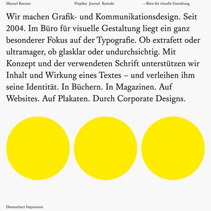 Manuel Kreuzer —Büro für visuelle Gestaltung, Passau