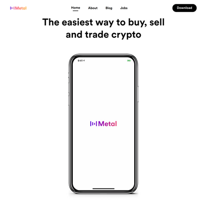 The easiest way to buy, sell and trade crypto.