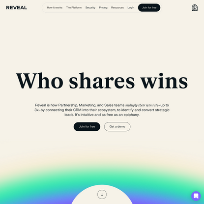 Reveal   Partnership, Growth, and Sales Ecosystem Solution