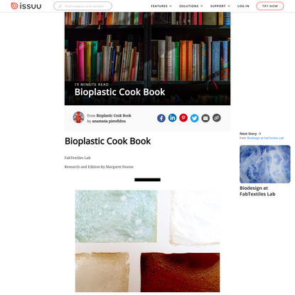 Bioplastic Cook Book - Issuu