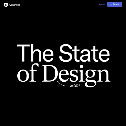 State of Design 2021 | Abstract