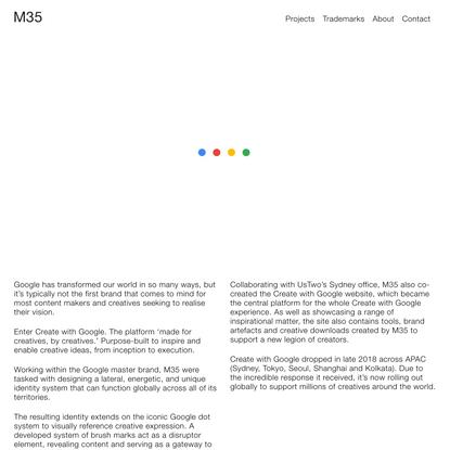 M35   Create with Google
