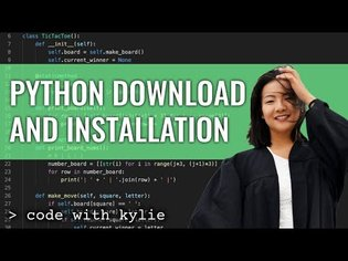 Python Installation and Setup   Getting started with Python   Code with Kylie #1