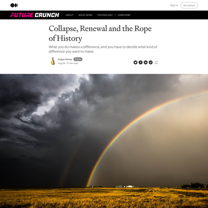 Collapse, Renewal and the Rope of History
