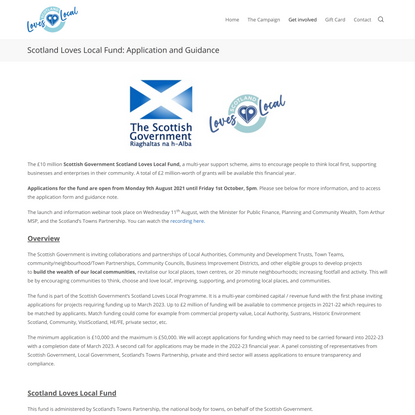 Scotland Loves Local Fund: Application and Guidance – Scotland's Town Centre Recovery Campaign – Home of the Scotland Loves ...