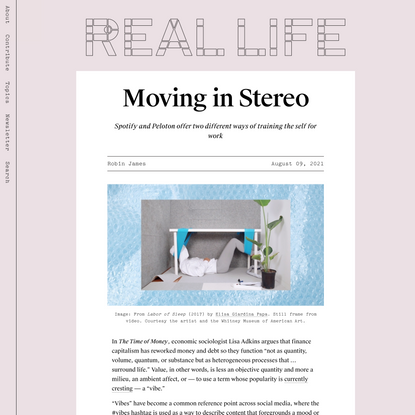 Moving in Stereo — Real Life