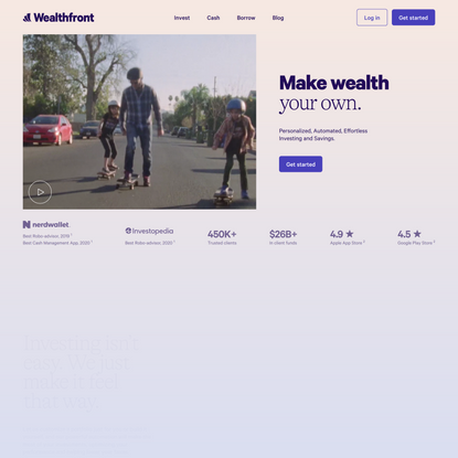 Make Wealth Your Own   Wealthfront
