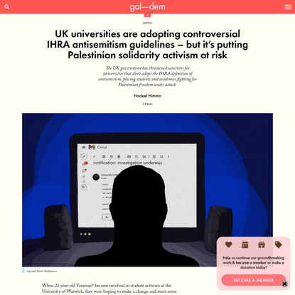 UK universities are adopting controversial IHRA antisemitism guidelines – but it's putting Palestinian solidarity activism a...