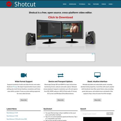 Shotcut - Home
