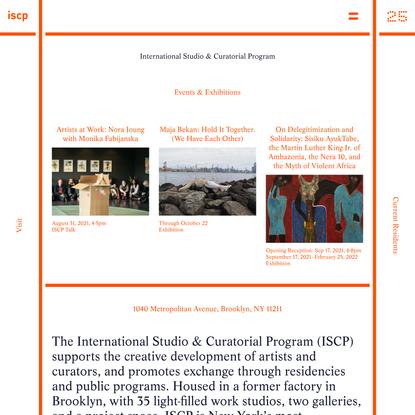 International Studio & Curatorial Program
