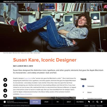 Susan Kare, Iconic Designer