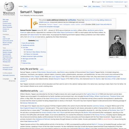 Samuel F. Tappan - Wikipedia