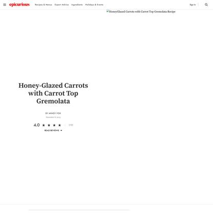 Honey-Glazed Carrots with Carrot Top Gremolata