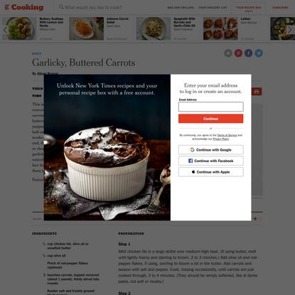 Garlicky, Buttered Carrots Recipe