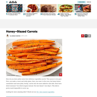 Honey-Glazed Carrots Are The Perfect Easter Side