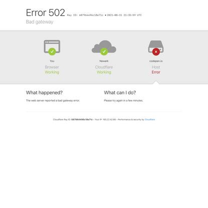 codepen.io | 502: Bad gateway
