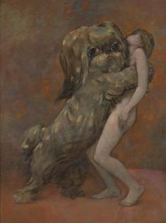 Dorothea Tanning dog portrait