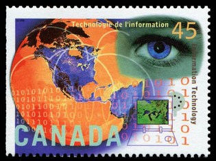 Canada Post Information Technology stamp (1996)