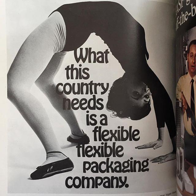 flexible flexible. (Ben-Mont ad, Modern Packaging magazine, November 1969) #prelingerlibrary #hobo