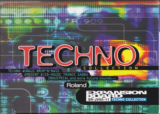 Roland SR-JV80-11 Techno expansion card box art (1997)