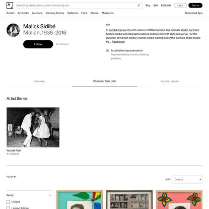 Malick Sidibé - 151 Artworks, Bio & Shows on Artsy