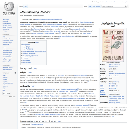 Manufacturing Consent - Wikipedia