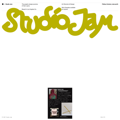 Studio Jam — The graphic design practice of Sam Jayne