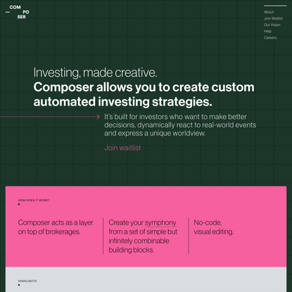 Composer – Investing, made creative.