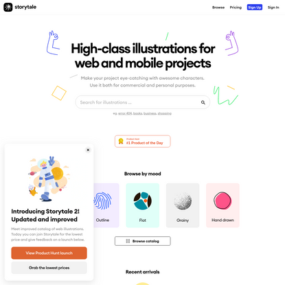 Storytale - High-class web illustrations under simple subscription