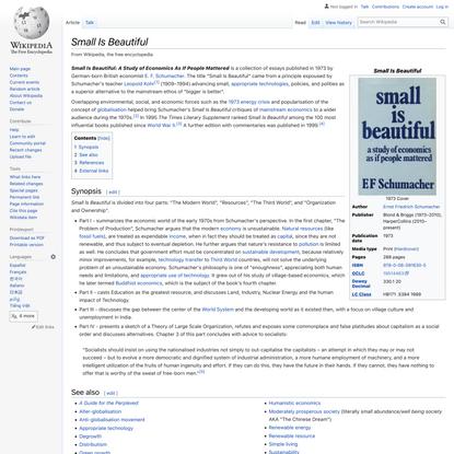 Small Is Beautiful - Wikipedia