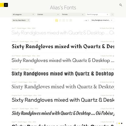 Alias's Fonts