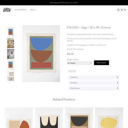PALOMA - Sage | 36 x 48 | Canvas