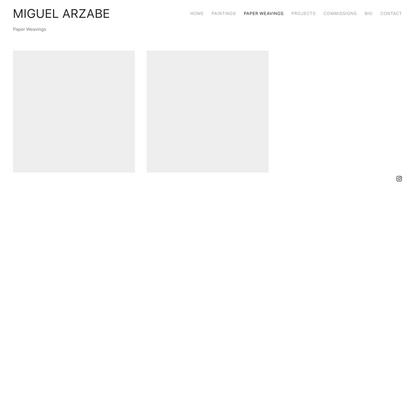 Paper Weavings — Miguel Arzabe