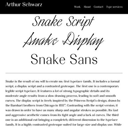 Snake Family - Arthur Schwarz