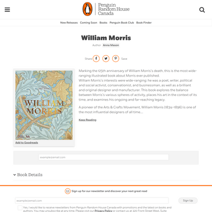 William Morris by Anna Mason   Penguin Random House Canada