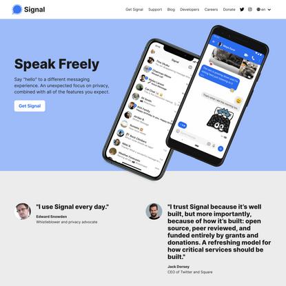 Signal Messenger: Speak Freely