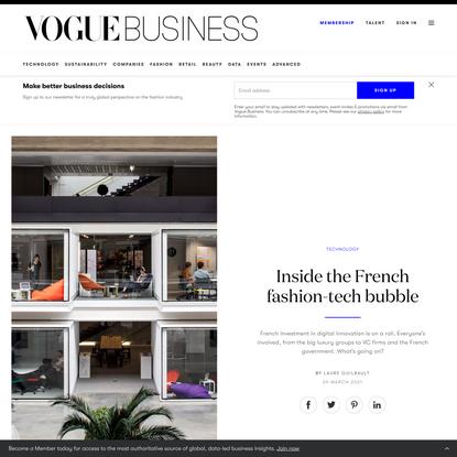 Inside the French fashion-tech bubble