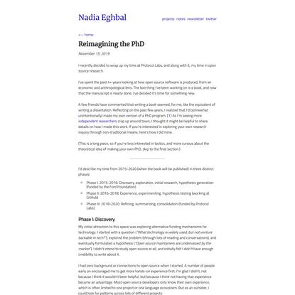 Reimagining the PhD