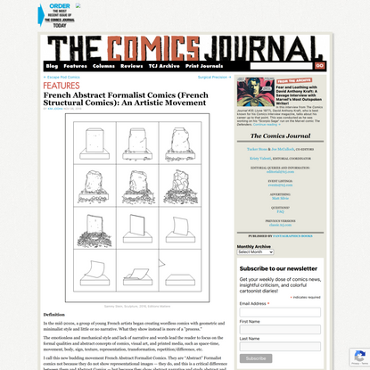 French Abstract Formalist Comics (French Structural Comics): An Artistic Movement | The Comics Journal