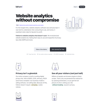 Website analytics without compromise
