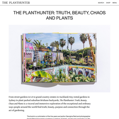 The Planthunter: Truth, Beauty, Chaos and Plants - The Planthunter