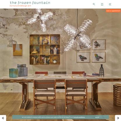 Frozen Fountain · furniture · design · art