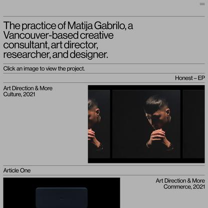 Practice of Matija Gabrilo