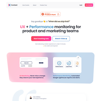 Context - UX and performance monitoring for product teams