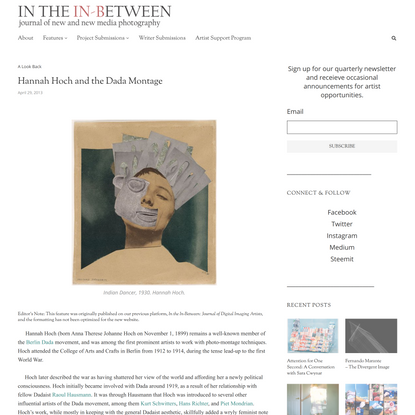 Hannah Hoch and the Dada Montage ⋆ In the In-Between